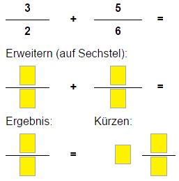 Brüche Klasse 4 und Klasse 5